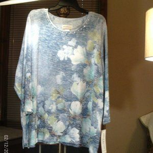 Alfred Dunner 2X  3/4 sleeve top